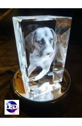3D laser crystal gifts (Little) with led light suport
