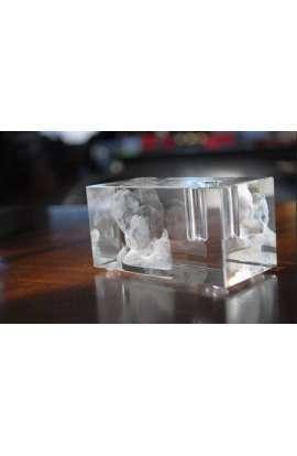 Cube gravé 3D (petit)
