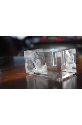 Cube gravé 3D support stylo