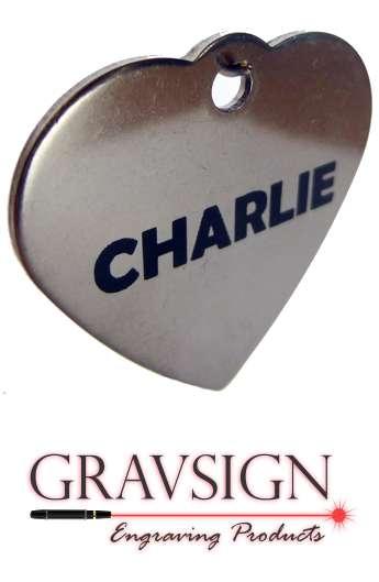 Médaille coeur inox