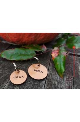 Médaille RONDE Acrylique cuivre